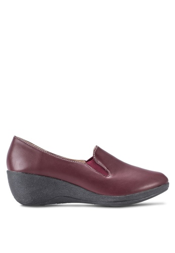 Louis Cuppers red Wedge Loafers LO977SH22BEFMY_1
