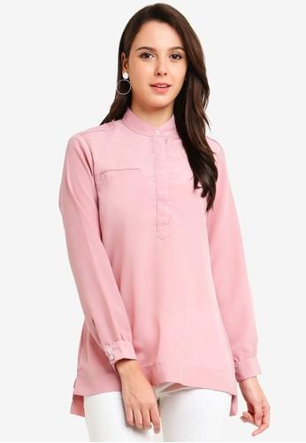 Qasaya pink Modest Blouse 6AA72AA6EA8400GS_1