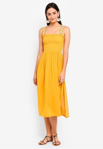 Buy Topshop Shirred Trim Dress Online On Zalora Singapore
