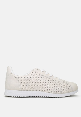London Rag white Active Casual Lace UP perforated Sneakers 94664SH41DFF94GS_1