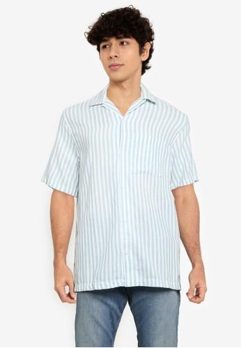 Gap green Dobby Camp Collar Shirt C971CAA6956F0AGS_1