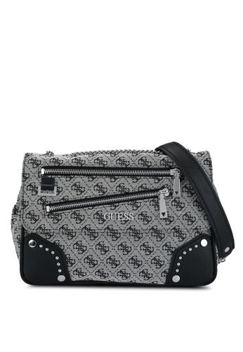 Guess black Frankie Convertible Crossbody Bag 2F52AAC320E529GS_1