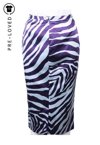 Dolce & Gabbana multi dolce & gabbana Blue And Purple Zebra Skirt 7D27DAAD5BD04EGS_1
