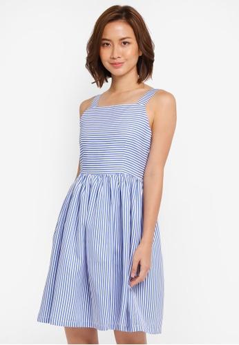 ZALORA blue Sun Dress CB975AA8FAE73EGS_1