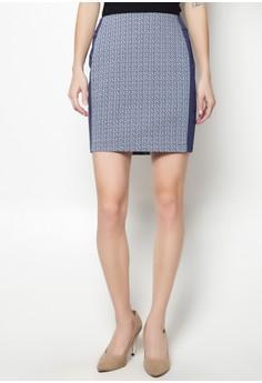 Printed X Color Skirt