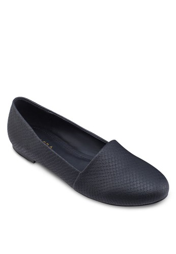 蛇紋壓花娃娃鞋, 女鞋zalora鞋, 芭蕾平底鞋