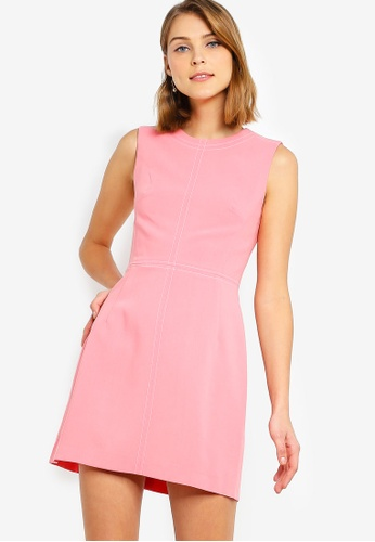 09c753854b8 French Connection pink Brodiaea Whspr Ruth Slvlss Dress 00954AA78C35F3GS_1
