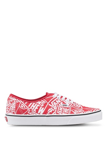 b86cff34b8 VANS white and red Authentic OTW Repeat Sneakers 8D5D7SHADF0240GS 1