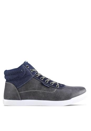 North Star grey Canvas Shoes NO159SH06GARMY_1