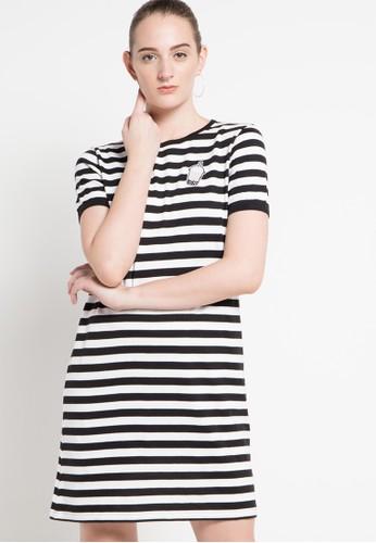 ULTRAVIOLET BY COME black Stripey Patch Dress UL461AA23NIEID_1