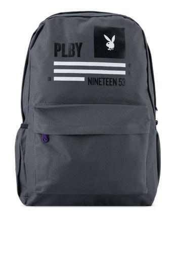 Playboy grey Playboy Casual Backpack PL371AC0SJZ0MY_1