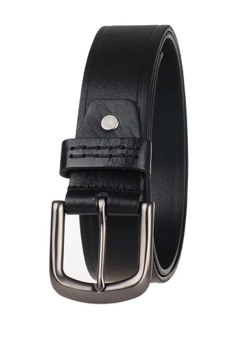 FANYU black Men Italian Leather Belt Black FA549AC50QBLSG_1