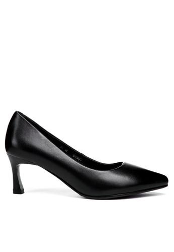 Twenty Eight Shoes black 6CM Leather Uniform Pointy Pumps 392ZC FA609SH443B863GS_1