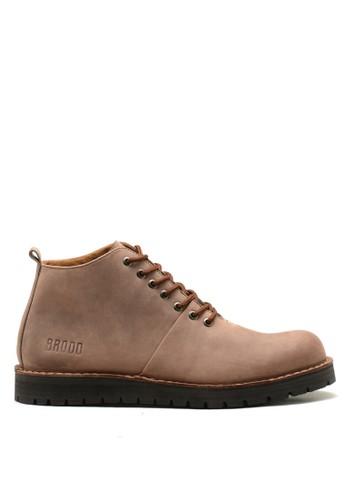 Brodo brown BRODO - Sepatu Pria Boots Dark Choco Bs 5ADAASHE8BDF0DGS_1