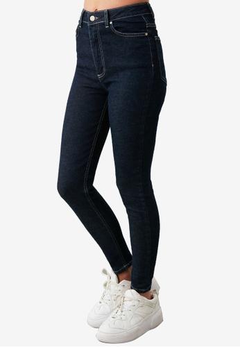 Trendyol navy High Waist Skinny Jeans 01224AADF08128GS_1