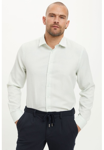 DeFacto 綠色 Long Sleeve Shirt 71192AA0B714DDGS_1