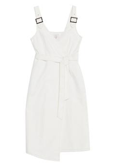 2b04933644931b TOPSHOP Buckle Wrap Midi Dress S  89.90. Sizes 6 8 10 12 14