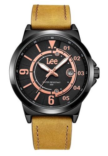 Lee Watches brown Lee Watch LEF-M132ABL5-1R Jam Tangan Pria Lee Leather Strap 50FD2AC468C717GS_1