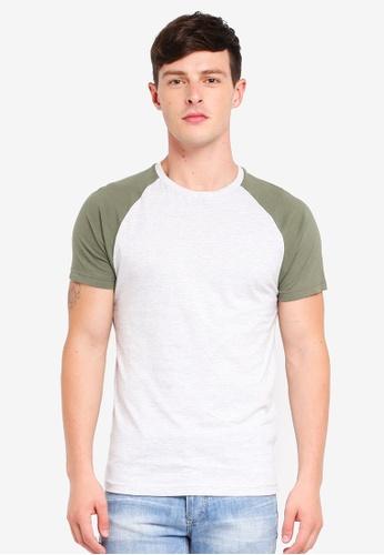 Brave Soul 米褐色 Raglan Short Sleeve Crew Neck T-Shirt 1C61BAADB58E51GS_1