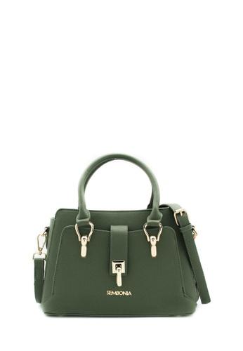 SEMBONIA green SEMBONIA Synthetic Leather Tote Bag (Green) 09E99AC67EAD6DGS_1