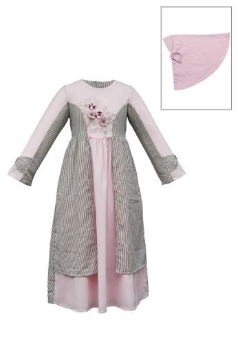 ESTRELLA pink Muslim Dress Anak ESM 167 6/12 0B1C1KA0B7B7D8GS_1