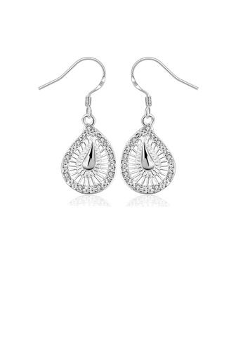 Glamorousky white Elegant Fashion Hollow Out Water Drop Shape Earrings F23DBAC6C625E9GS_1