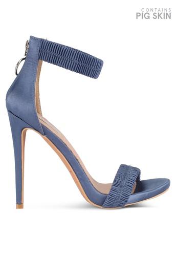 LOST INK 藍色 尖頭高跟涼鞋 0C388SHF70DEEFGS_1