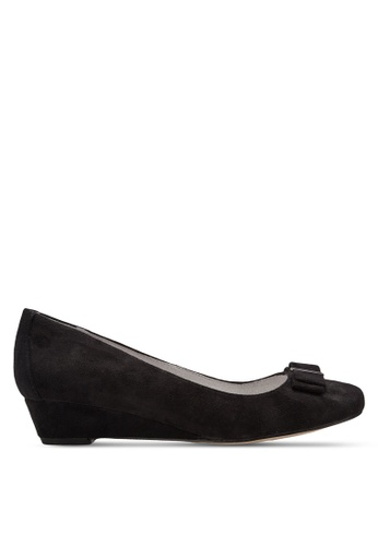 BETSY black Wedge Pumps With Bow BE207SH36VBNMY_1