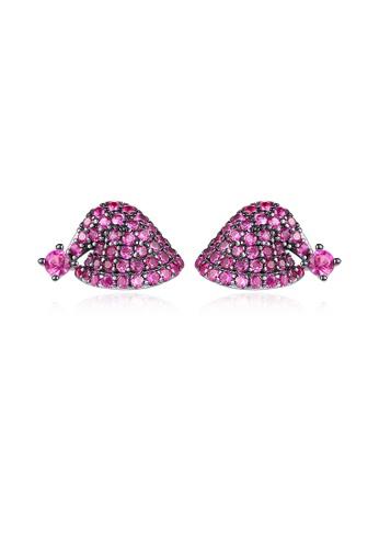 SUNRAIS High-quality Silver S925 floral earrings 237FAAC717012CGS_1