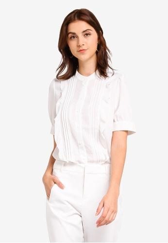 Vero Moda 白色 短袖襯衫 EC220AAE2F8B9EGS_1