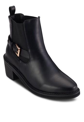 五金扣環帶中高跟短靴, esprit retail女鞋, 靴子