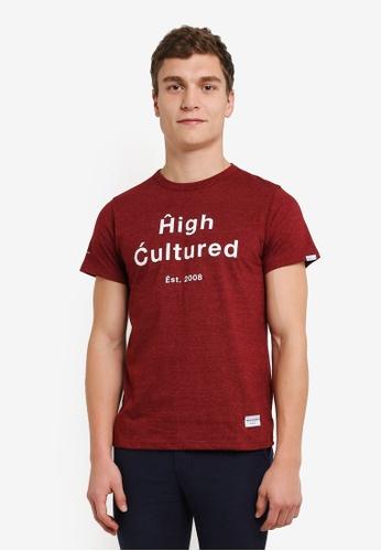 High Cultured 紅色 圓領 T卹 HI002AA0S1UFMY_1