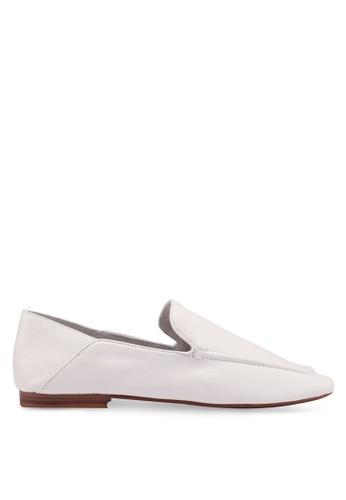 Mango 白色 皮革樂福鞋 FA504SH3D14E87GS_1