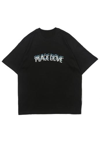 HAPPY FRIDAYS HAPPY FRIDAYS 和平鴿主題印花T恤  OV9185 6ABC9AAFB77B5EGS_1