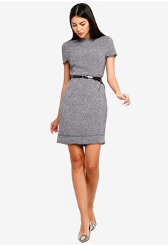 06bfb742bdb6 29% OFF ZALORA Fray Edges Tweed Dress HK$ 249.00 NOW HK$ 176.90 Sizes XS S  M L XL · Halo black Summer ...