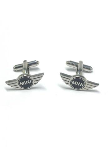 Splice Cufflinks silver Mini Badge Cufflinks SP744AC93FTYSG_1