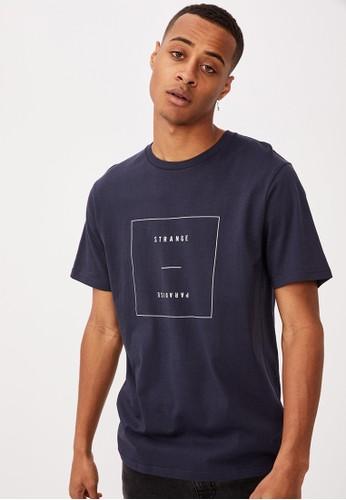 Cotton On navy Tbar Text T-Shirt 356D8AAF205E1BGS_1
