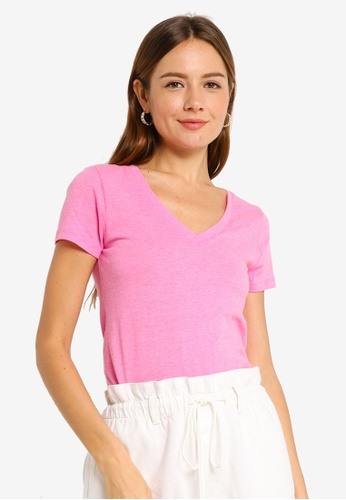 GAP pink Favourite Solid Top 539CDAA6C26513GS_1