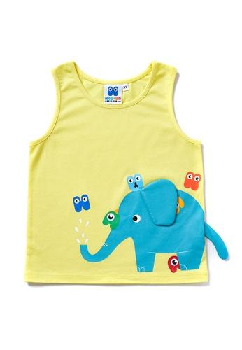 Vauva yellow Vauva Hauska Boys Elephant Vest - Yellow CC105KADFD5FF2GS_1