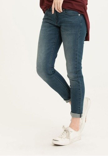 H:CONNECT blue Solid Color Skinny Demin Jeans C1021AABC77EBBGS_1