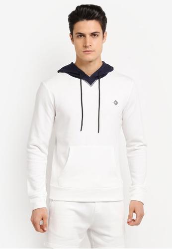 JAXON white Hooded Logo Pullover F29CFAA29C3AB6GS_1