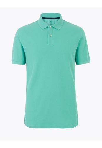 MARKS & SPENCER M&S Pure Cotton Polo Shirt 6D31DAACD0ABD4GS_1