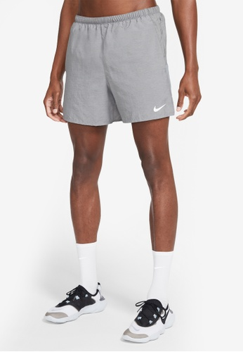 Nike black Men's Dri-Fit Challenger Brief-Lined Running Shorts E4F2CAAC8D5A30GS_1