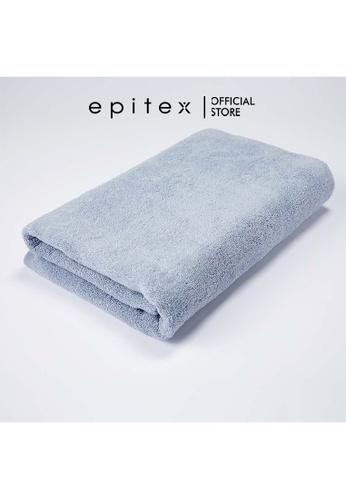 Epitex blue Epitex Anti Odor 100% Cotton Bath Towel - Gym Towel - Bathing Towel - Comfortable Towel (Smoky Blue) 67DA3HLC0ED117GS_1