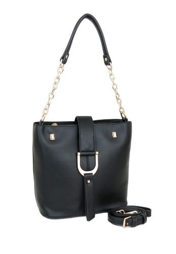 VENUS black Carel Black Shoulder Bag C697BAC9D37E92GS_1