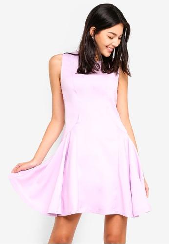 ZALORA purple Fit And Flare Dress 593C7AA192866DGS_1