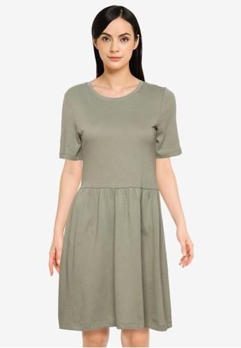 JACQUELINE DE YONG green Pastel Short Sleeves Dress E30ECAA9BECF96GS_1