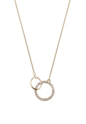雙環精緻項鍊, 飾品配esprit官網件, 飾品配件