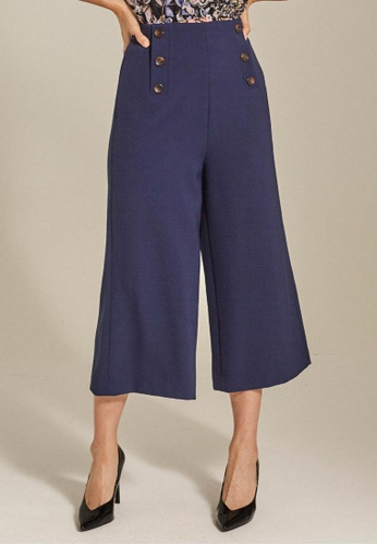Dressing Paula navy Button-Embellished Cady Culottes 5A803AA1D9C2ADGS_1