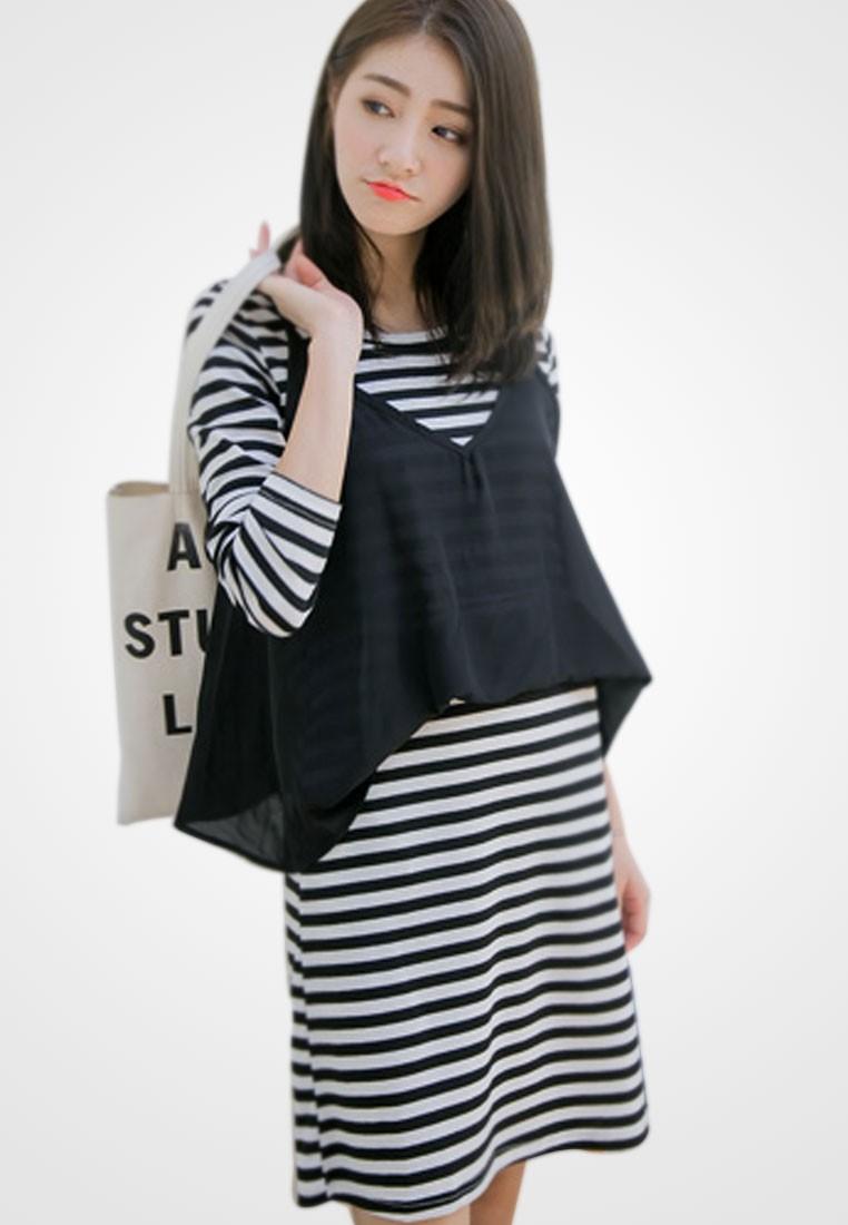 Femme Encounter Stripes Dress